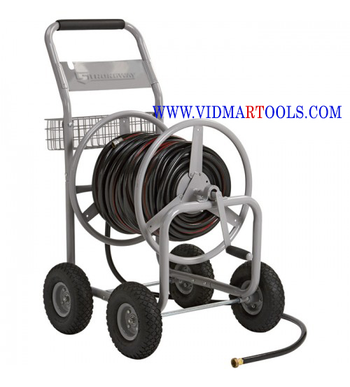 Strongway Garden Hose Reel Cart Holds 5/8in. x 400ft. Hose