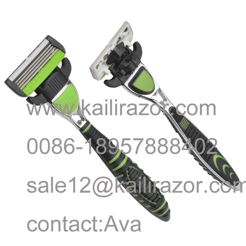 KL-magnetic  four blade metal handlesystem shaving razor