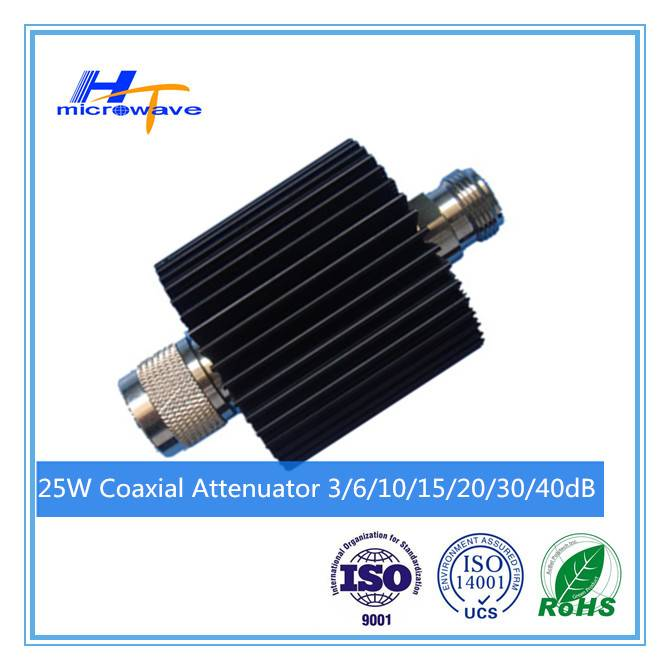 RF Coaxial fixed Attenuator DC-3GHz 25W N-M/N-F connector type 50ohm