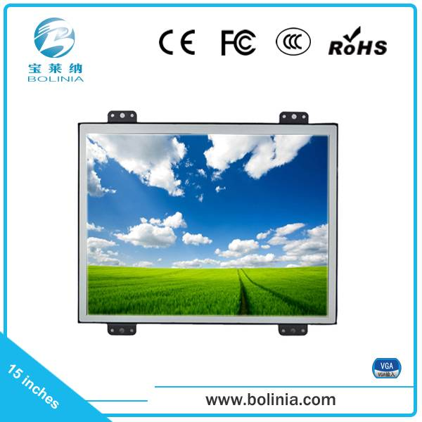 Open frame 15 inch LCD monitor 12 volt