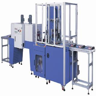 High speed side seal and shrink machine