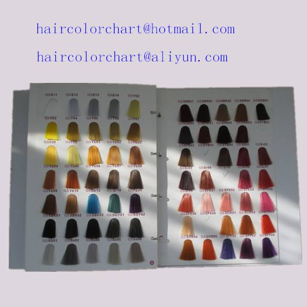 customized color hair swatches