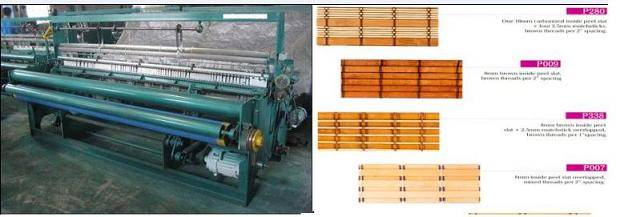 Bamboo curtain blind weaving making machine manufacturing line plant