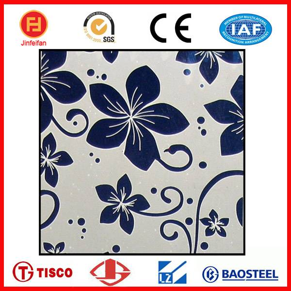 Ti-coating colored etched stainless steel sheets 316l for decoration