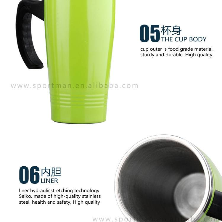 Double Wall Stainless Steel Vacuum Thermo Travel coffee mug flask