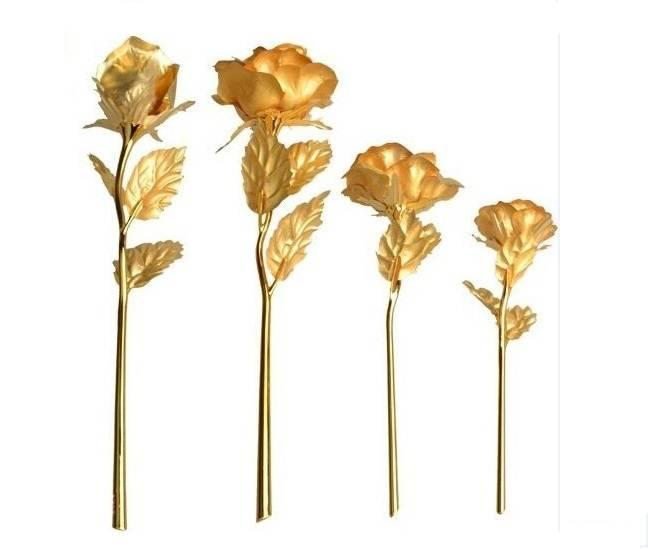 24K Gold Foil lover gift rose