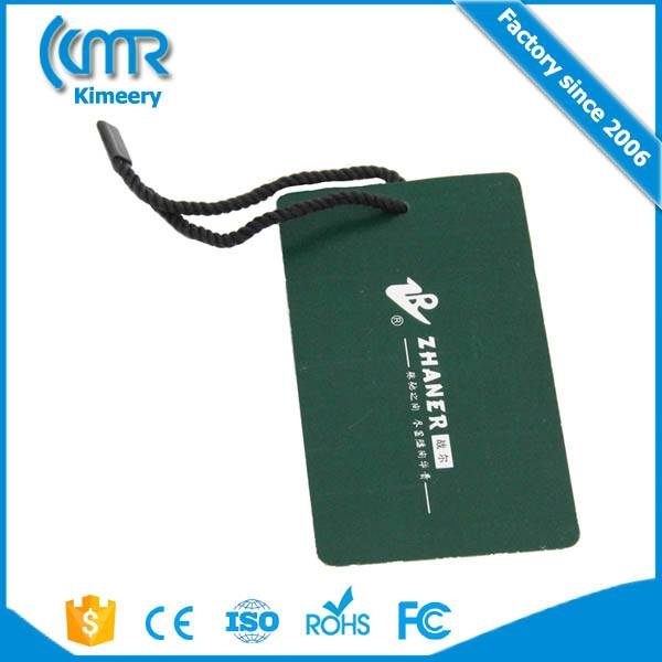 UHF RFID clothing tag label UHF900M equipment 6C protocol RFID Asset Management clothing hang tag ep