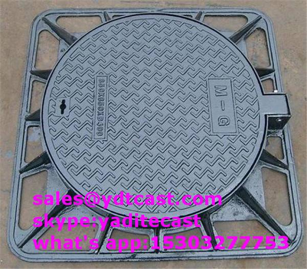 600*600mm ductile iron manhole cover heavy type d400