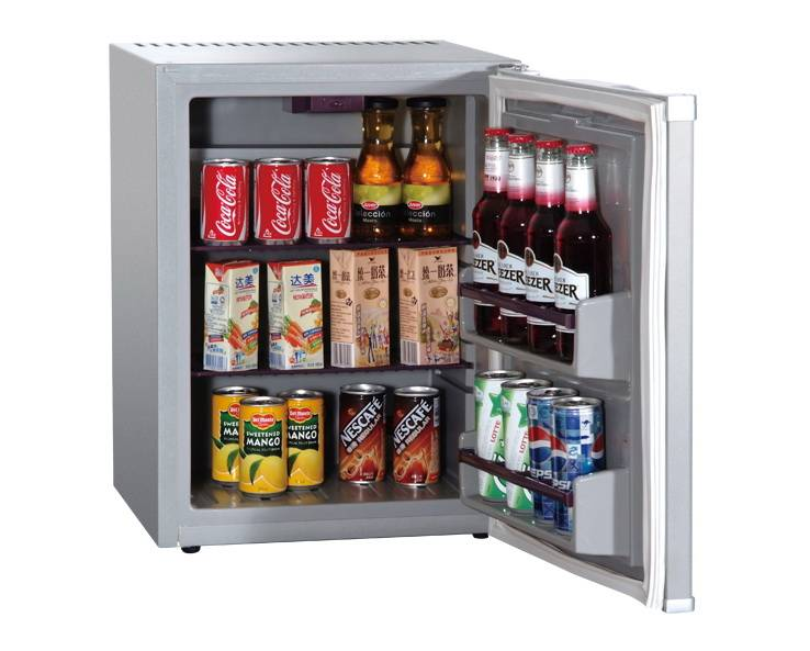 New 30L Silver Hotel Silent Fan Cooling Mini Bar Cabinet Refrigerator Foamed Door