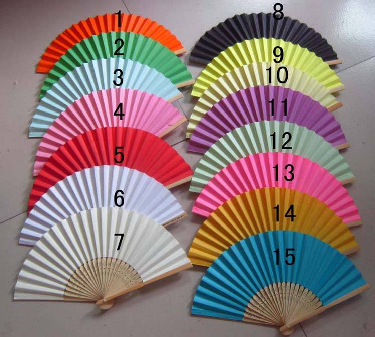 personalized hand fan for wedding or party or promotion event