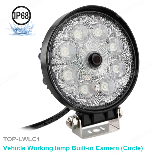 Round LED Flood Light with Built-In Backup Camera (TOP-LWLC1)
