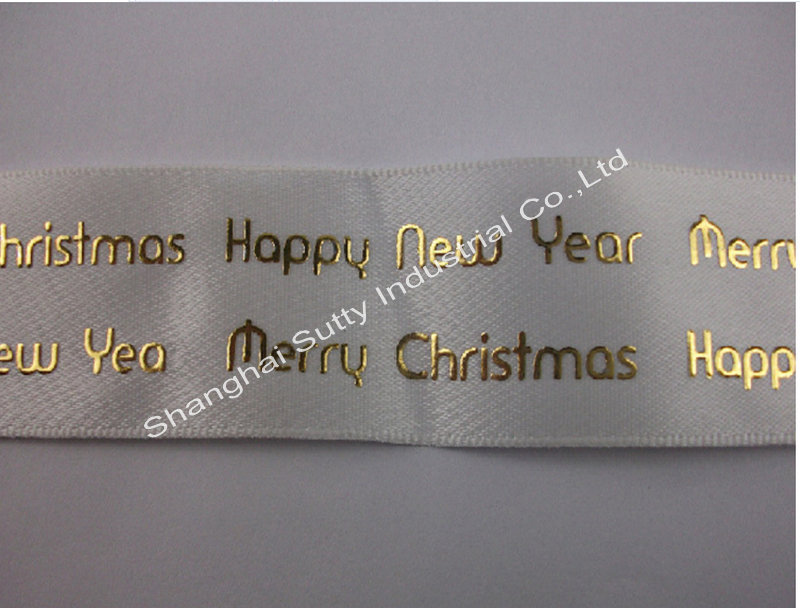 "1"" special gold foil custom printed grosgrain ribbons wholesale from China supplier"