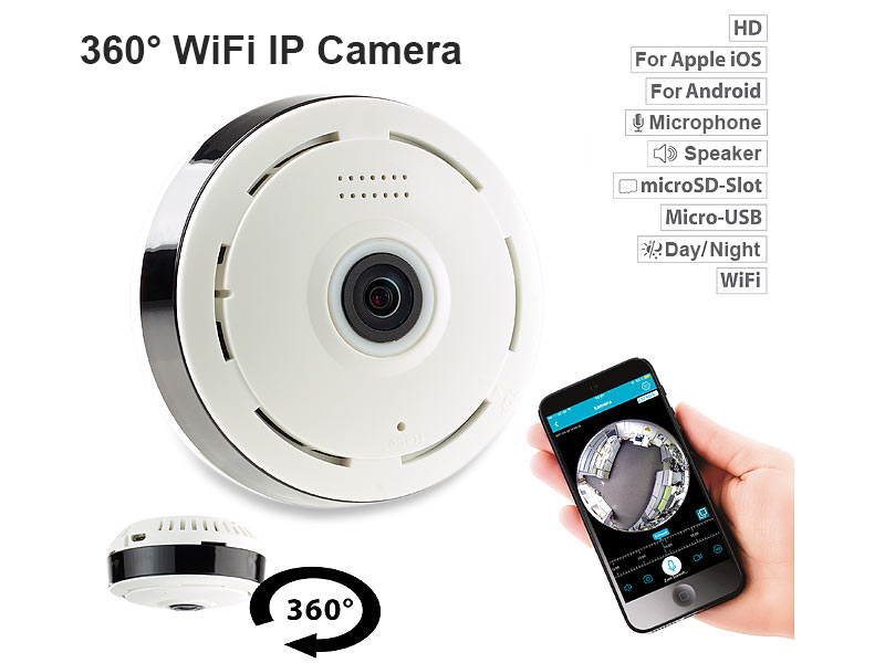 360° Home Security Wi-Fi IP Camera