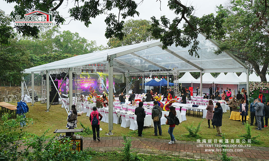 300 People Clear Top Party Tent for Weddings and Parties