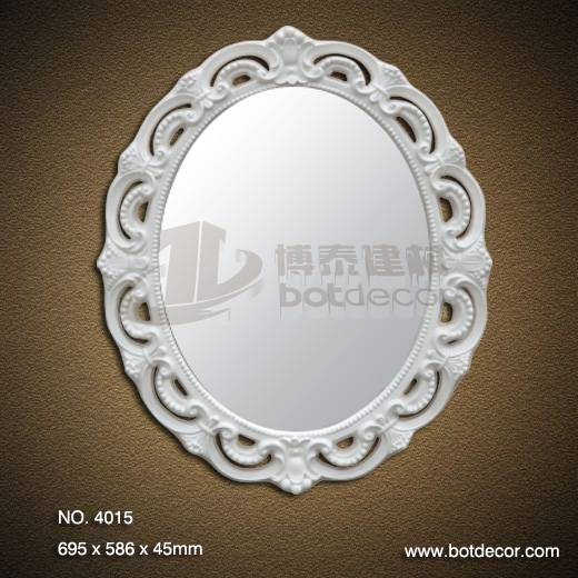 Exquisite PU Decorative Art bathroom mirrors