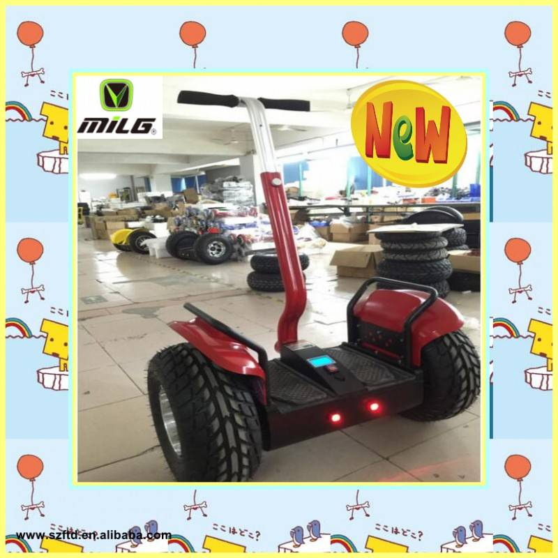 2016 Arrival 2 wheel self balance electric chariot with lithium battery operated scooter for rental