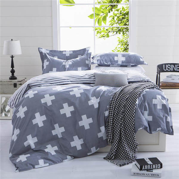 Reactive Printed Bedding Set Bedclothes Suit Queen Size Duvet Cover+Bed Sheet+2 Pillowcases Home Tex