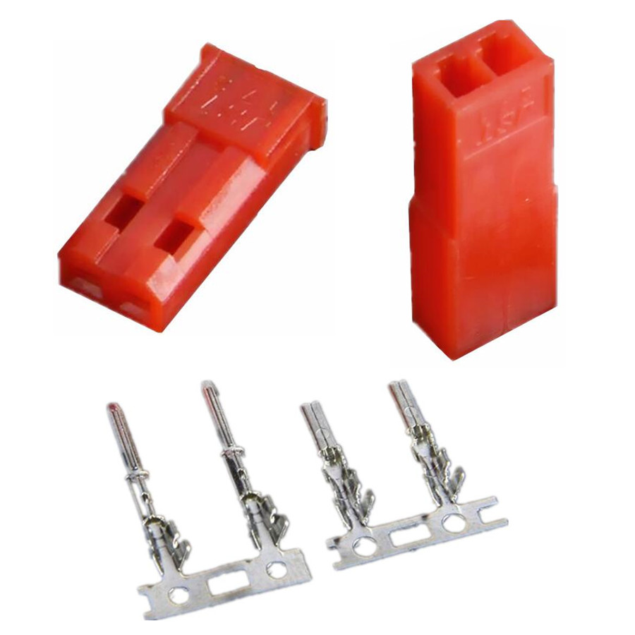 10pairs 2.54mm JST SYP 2-Pin Female & Male Red Plug Housing Crimp Terminal Connector Kit 20%Off