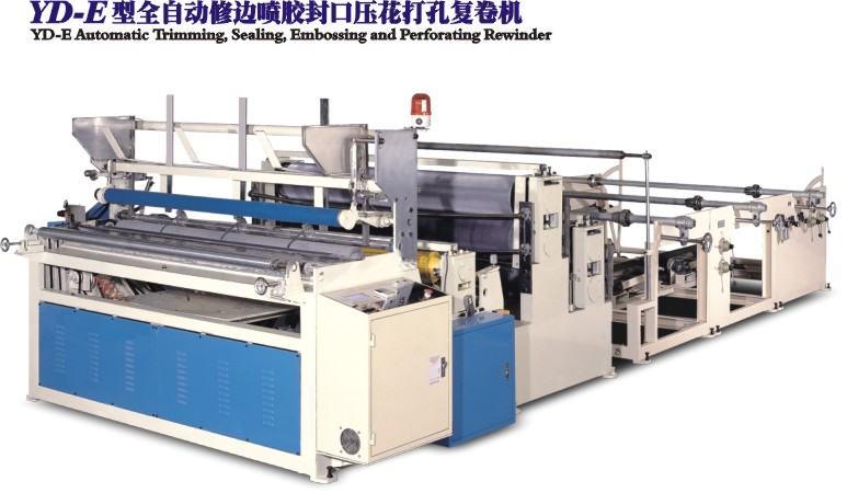 YD-E Automatic Trimming,Sealing,Embossing and Perfortaing Rewinder