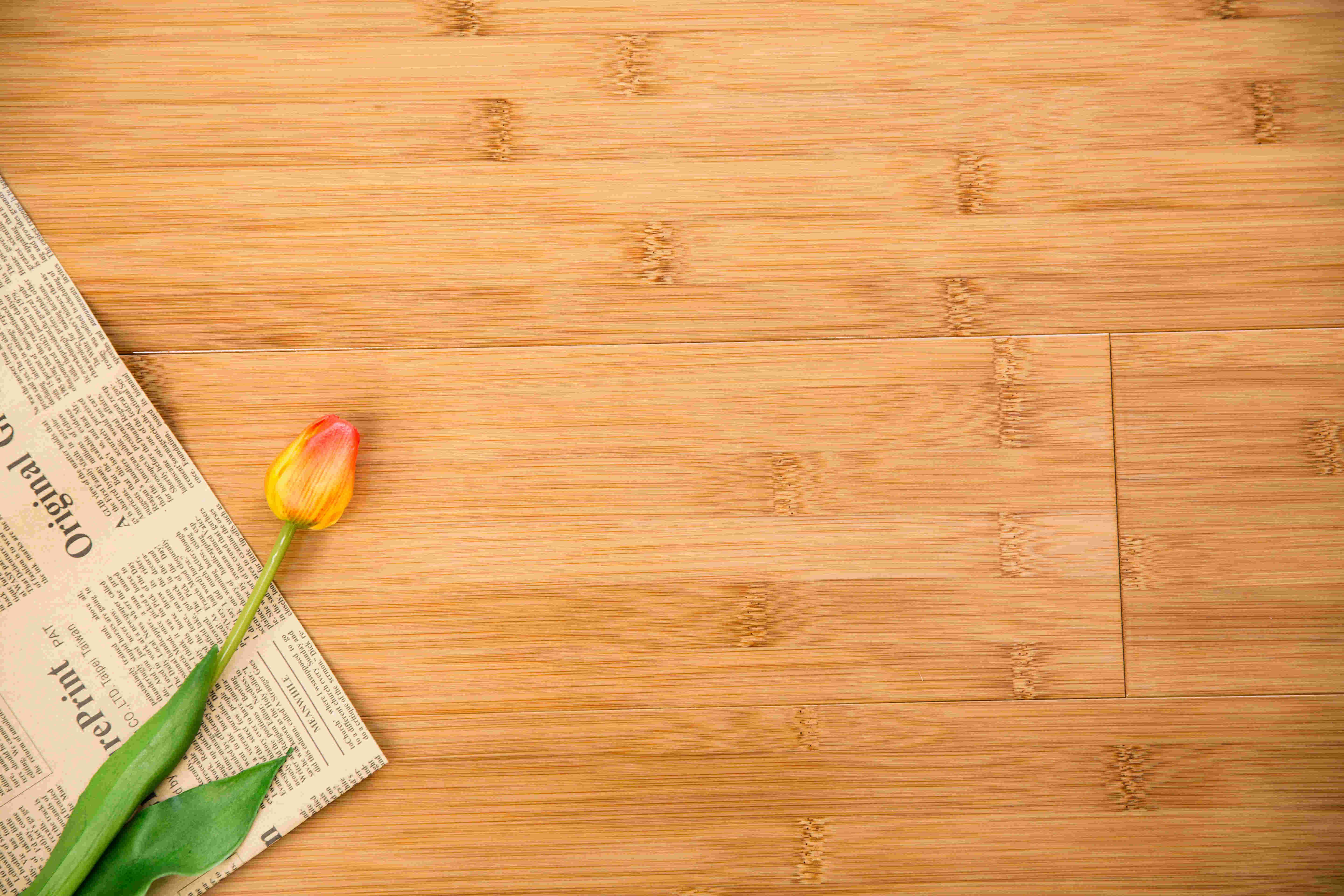 Natural and Plain Pressed Bamboo Flooring