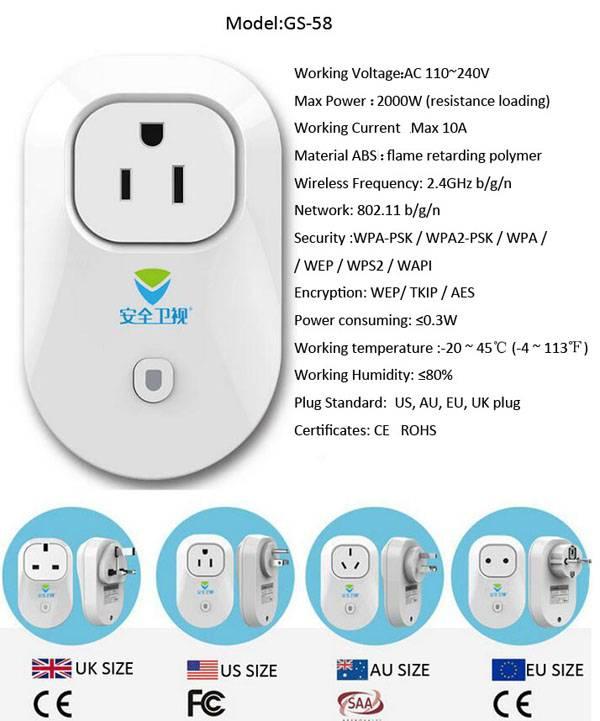 General-Purpose Application Wifi Electric Power WIFI Socket