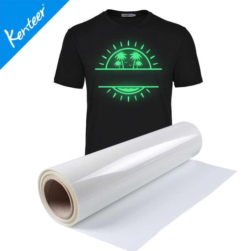 Glow in the dark heat transfer vinyl for cloth