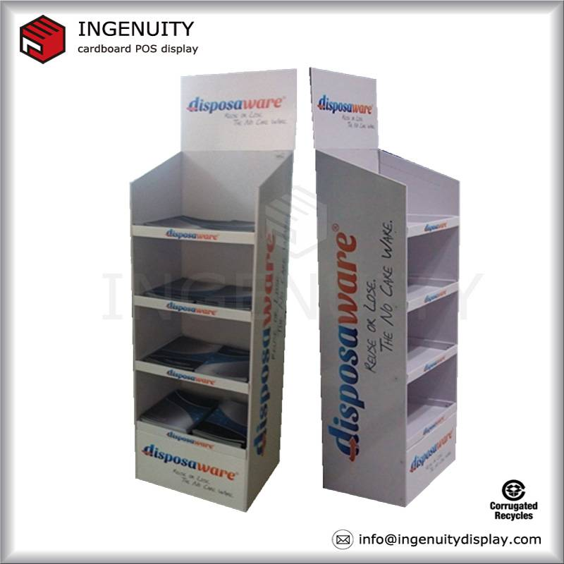 FSDU tray cardboard floor standing display/ cardboard POP display/ cardboard supermarket display for