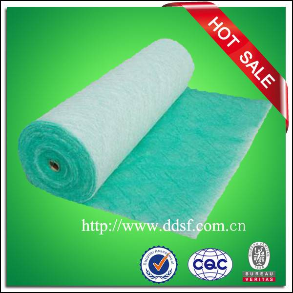 White and green paint spray booth floor filter material