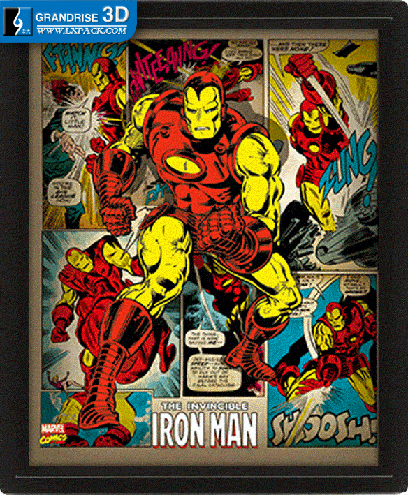 Invincible Iron Man poster Movie Lenticular Poster Printing 3D Effect Printing