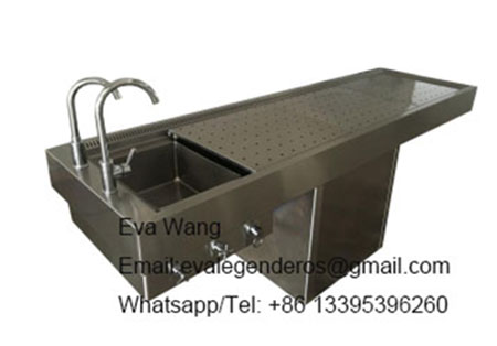 Hot Sell Funeral Equipment Stainless Steel Embalming Table