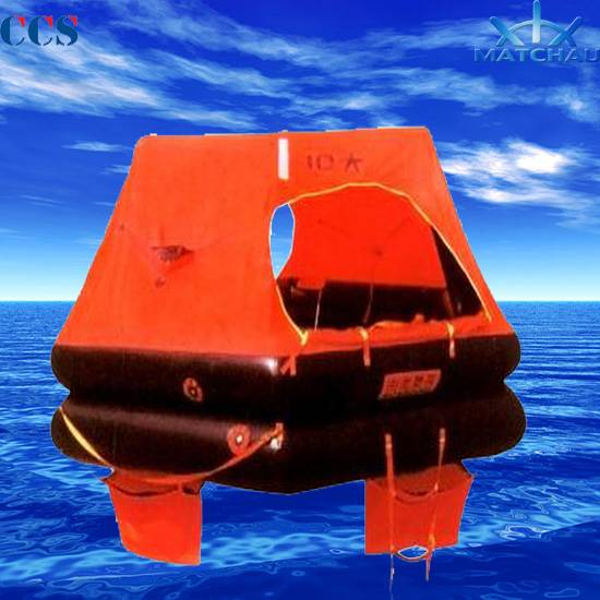 YJ Type 14 Person Throw Overboard Inflatable Liferaft (For fishing boat use only)