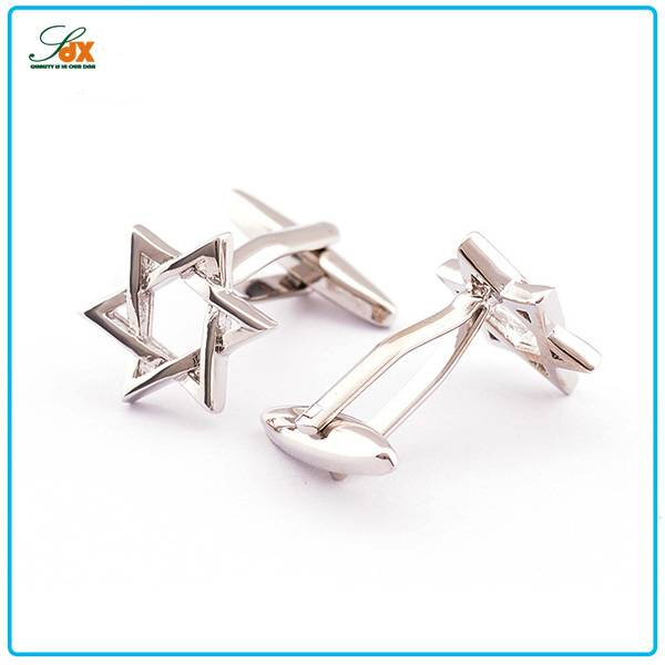 Hot sale Metal Silver Plated Couples Weddings Cufflinks