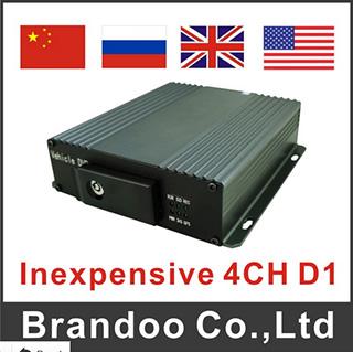 Inexpensive 4CH Car DVR, Support 3G/GPS, Model Bd-326, China Car DVR Manufacturer