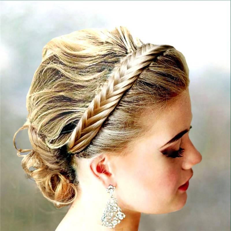 Synthetic Hair Elastic braid Headbands synthetic hair braid headband