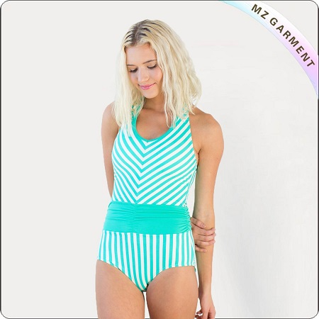 Adult Ming Blue One-Piece Swimwear