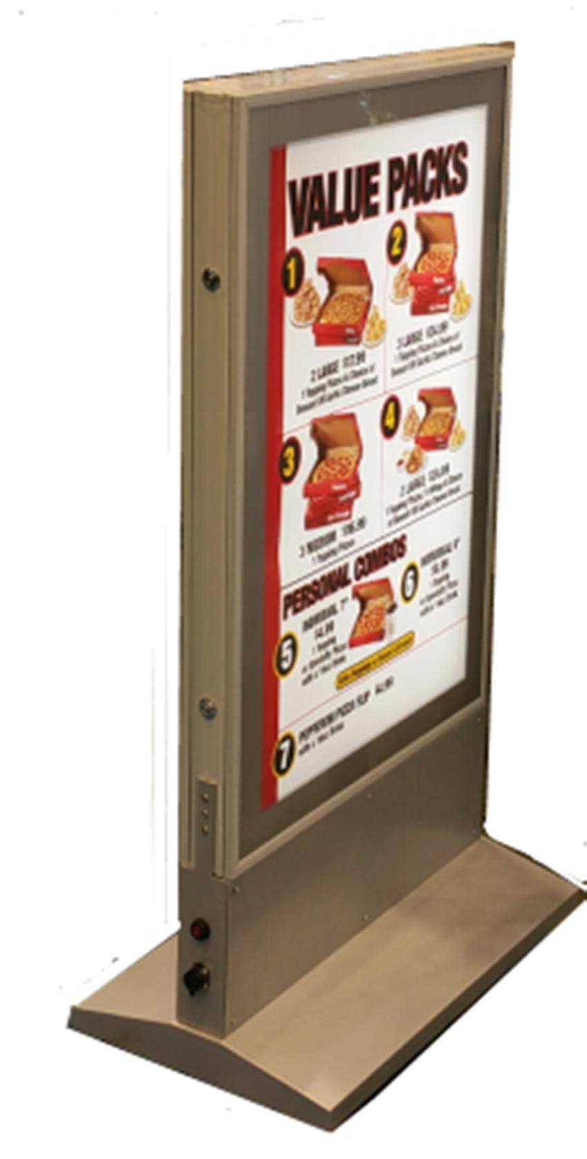outdoor free stand double side light box
