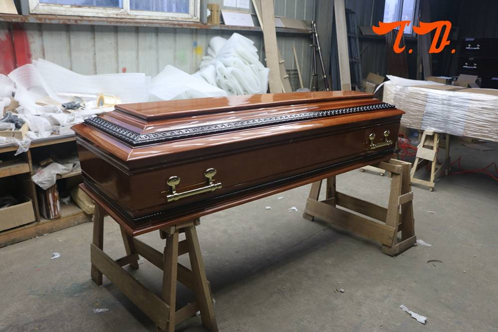 TD-E01European style cheap price chinese coffin for sale