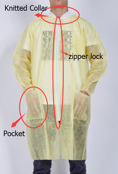 Disposable Lab Coat with Pocket