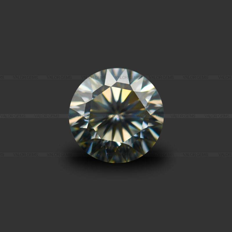 White Round 16H&16A Moissanite