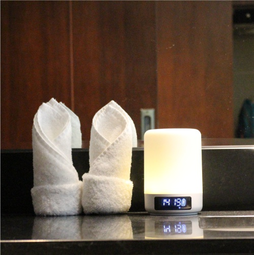 Color changing smart lamp with bluetooth speaker
