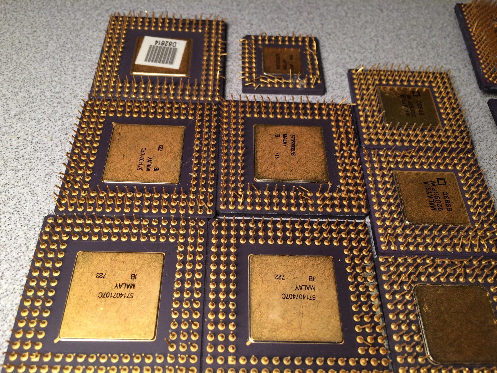 Rare i960 486 Gold Scrap CPU Mix Processor Recovery
