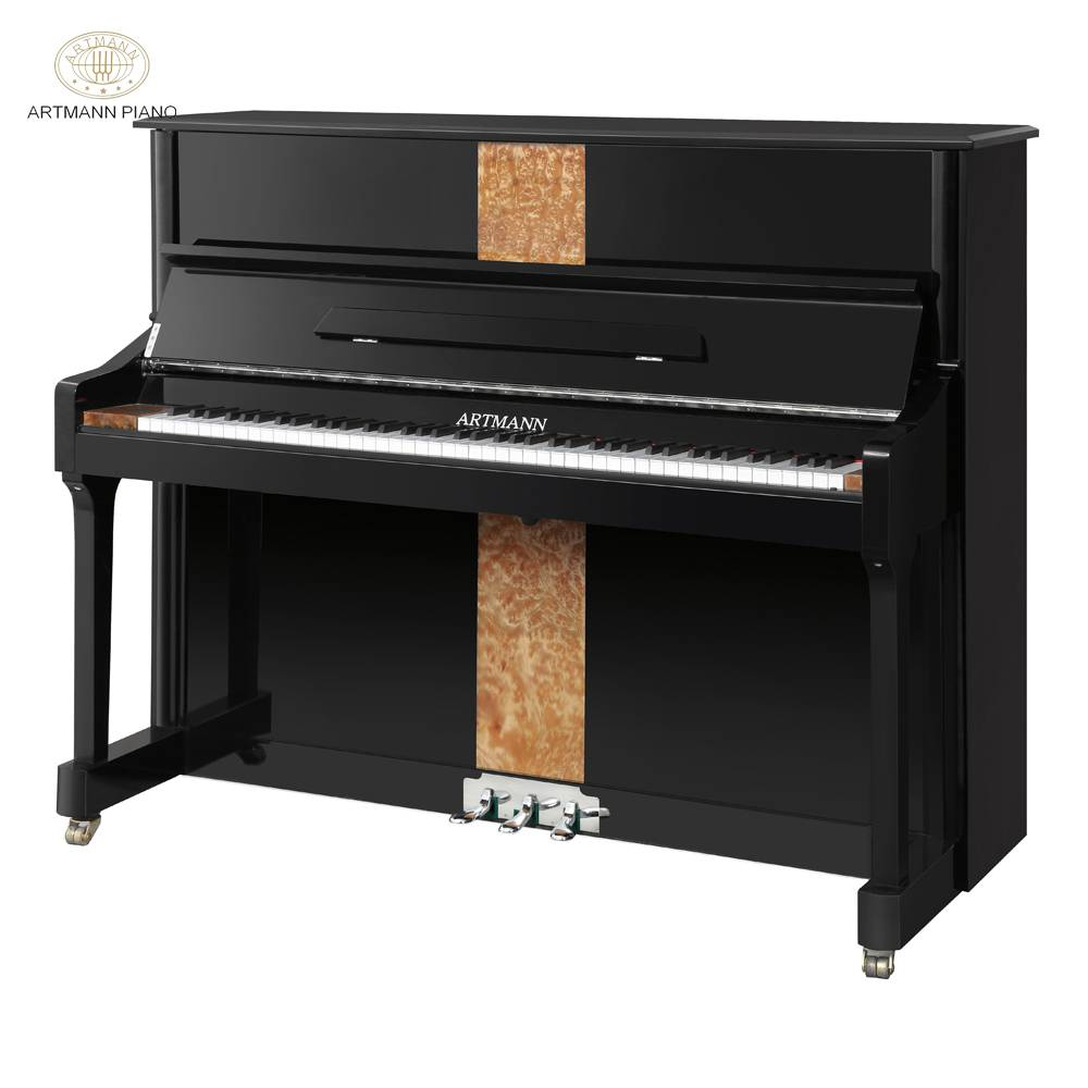 Shanghai Artmann mechanical ebony gloss 88 keys GD-125A2 vertical upright piano