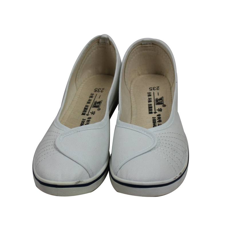 White Women Non-woven Anti-Static Nurse Shoes For Cleanroom
