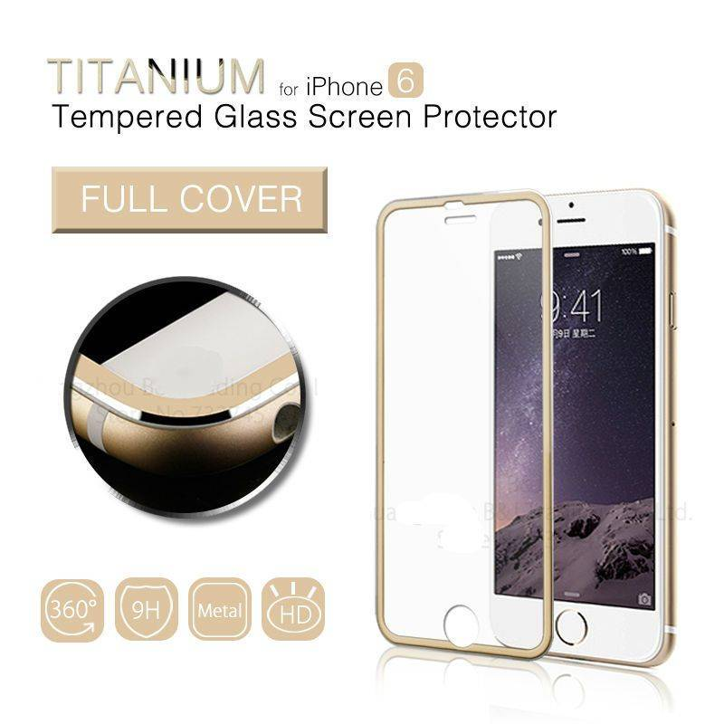 Full Edge Alloy 0.26mm 9H 3D Arc Tempered Glass Film Screen Protector for iPhone6 MSP891TS