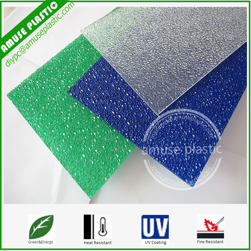 Colored Frosted Polycarbonate Embossed Solid Boards Sabic PC Gate Sheets
