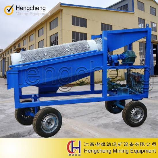 small mining gold wash plant mobile mini gold trommel for sale