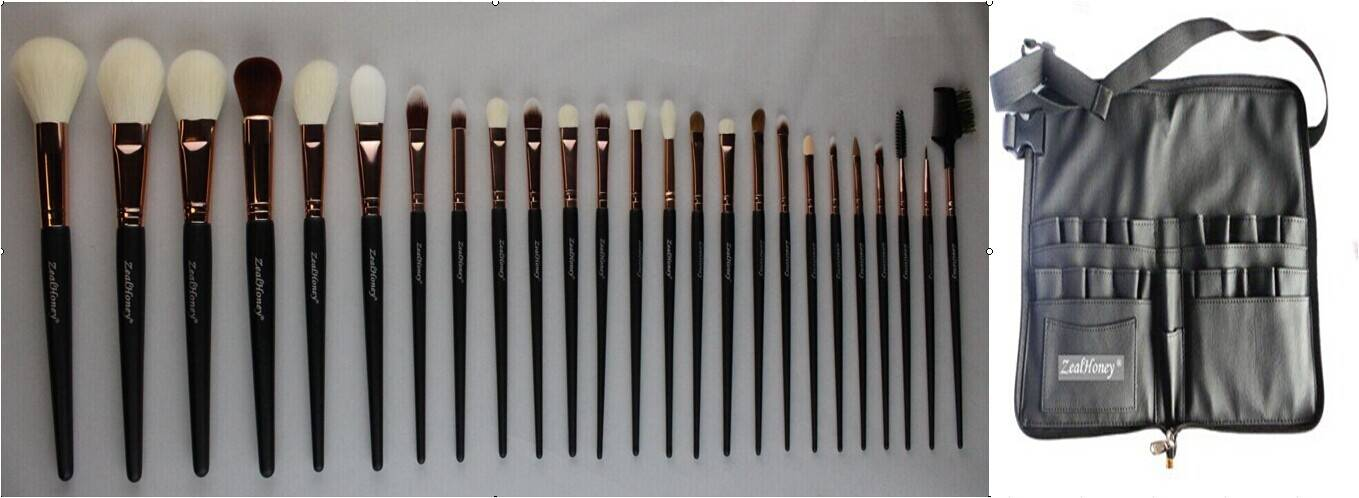 Zealhoney 26 pcs professional makeup brush kits rose gold brushes set
