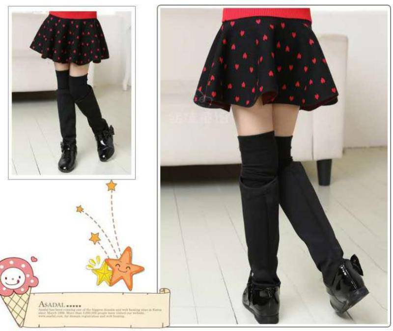 Readymade garment stock: 12,000pcs Girls 100%cotton double-layer knited skirts TC3-375