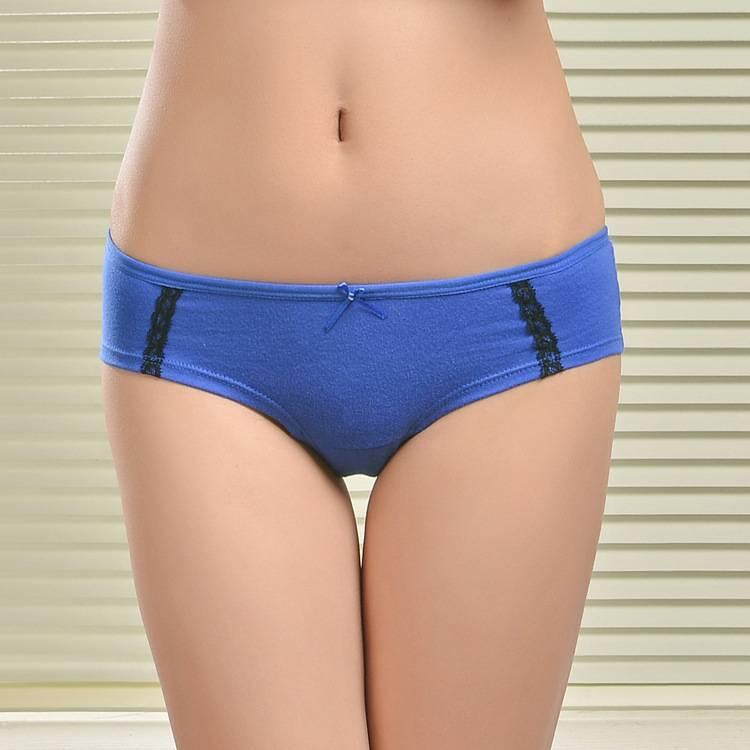 2015 New spandex laced cotton boyleg panties lady brief stretch cotton pants knickers women underwea