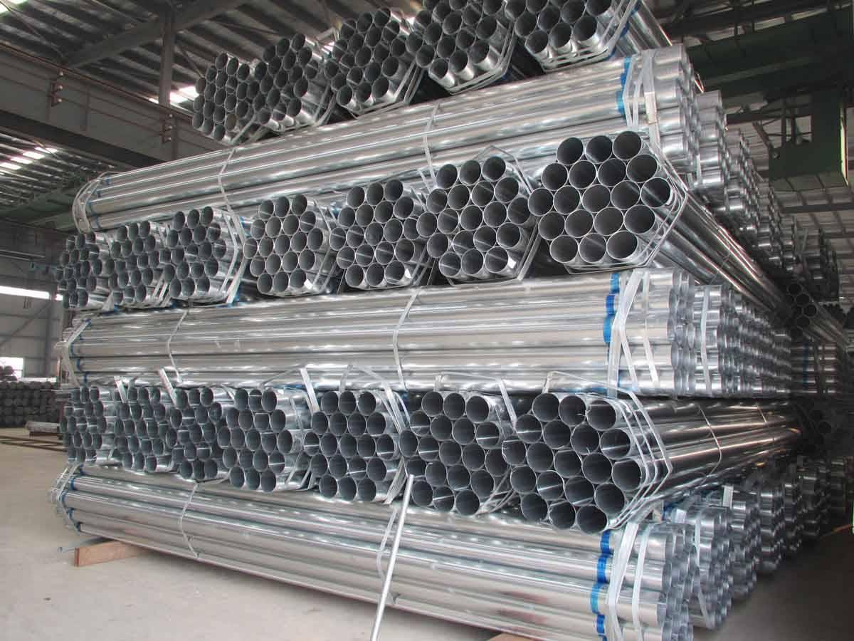 welded Pre galvanized round pipe in China Dongpengboda